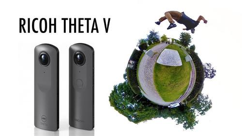 ricoh theta v spherical camera 360º 4k vr novo p. entrega sp