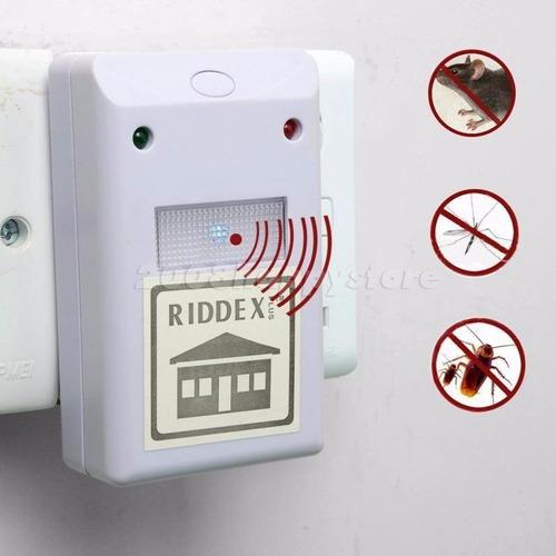 riddex plus electrónico repelente control plagas roedores hq