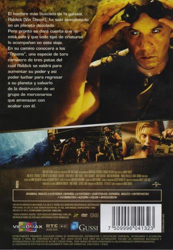 riddick el amo de la oscuridad vin diesel pelicula dvd