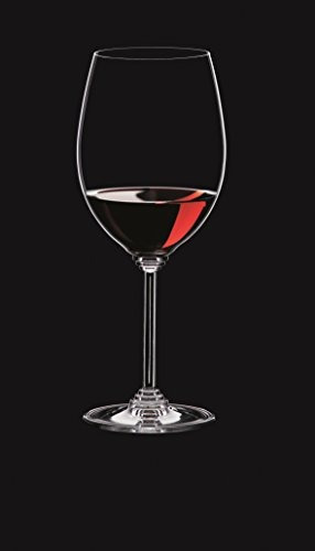 riedel serie vino cabernet / merlot vidrio, juego de 2