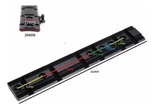riel 11 y 20mm compatible multimodelos adaptaciones mira