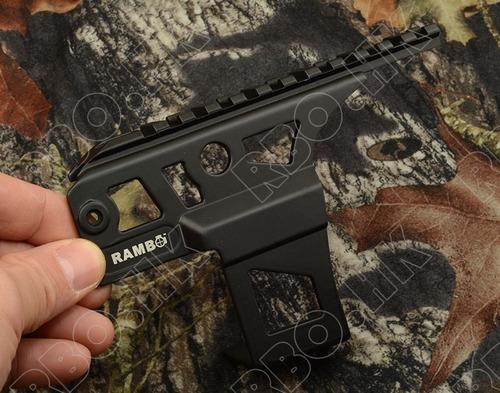 riel 20 picatinny ak47 tactico montura p/ rifle cazeria