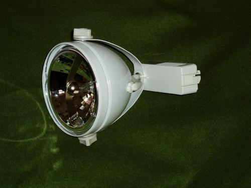 riel -con  3 spots ar111 - incluye lampara y trafo- oferton