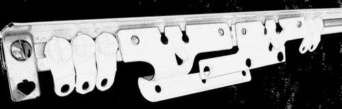 riel de aluminio blanco. cortinero alfa para cortinas