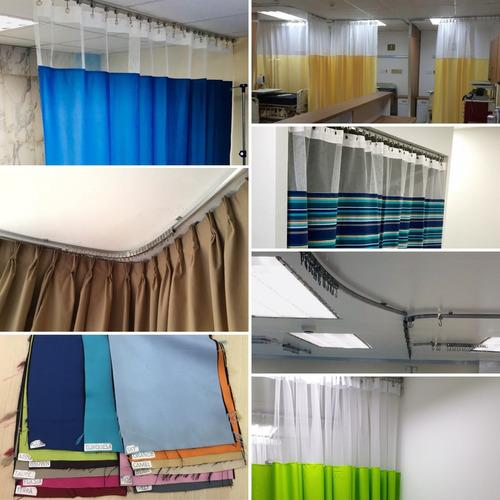 riel en aluminio natural o blanco, cortinero para cortinas.