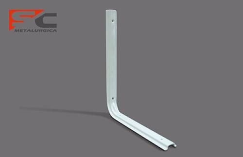 riel ménsulas 1 metro blanco reforzado para estanterias