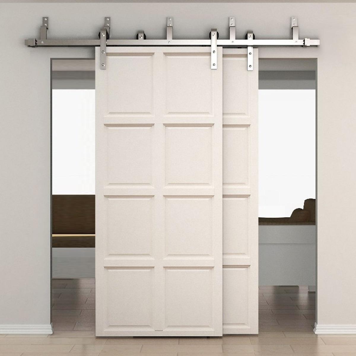 Riel para doble puerta corrediza 6pies forma j acero for Riel para puerta corrediza