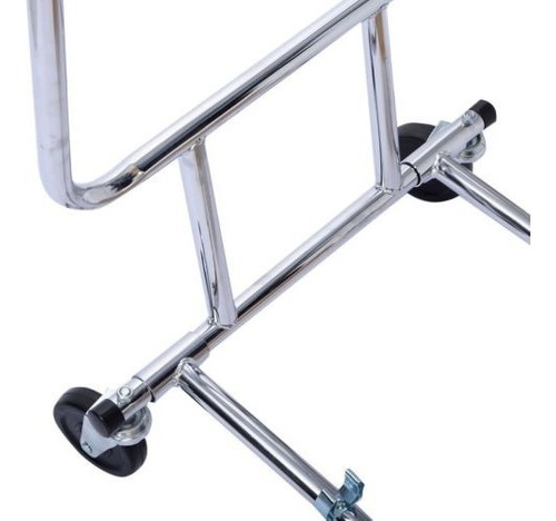 riel plegable doble comercial prenda rodante rack perchero