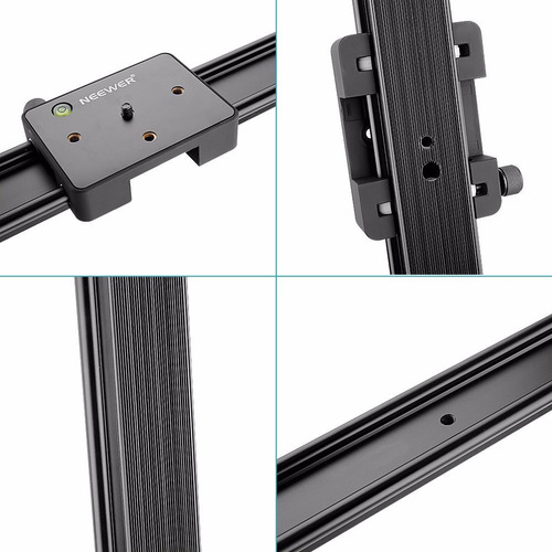 riel slider 120cm vertical horizontal con tripie y cabezal