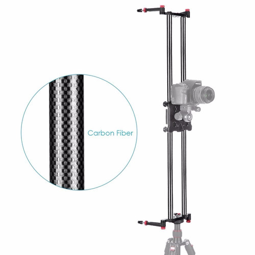 riel slider 1m carbono vertical horizontal tripie y cabezal