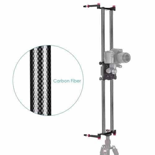 riel slider 80cm carbono vertical horizontal tripie ycabezal