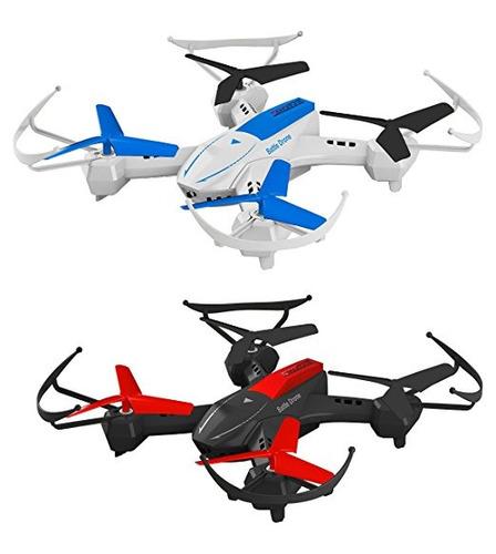 rieles espacio quadcopter batalla drones combinado determina