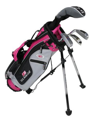 rieragolf set junior golf us kids r 4-6 años rosa niña