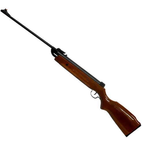 rifle aire comprimido 5.5mm culata madera funda balines