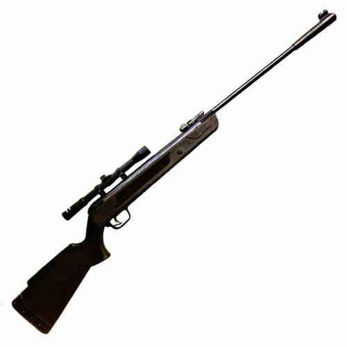 rifle aire comprimido castor black 5,5 mira 4x20 + balines