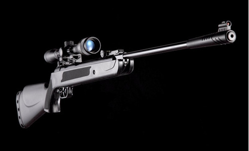 rifle aire comprimido castor black 5,5 mira 4x32 200 balines