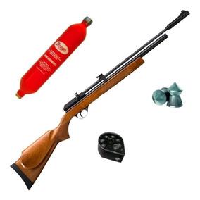 Rifle Aire Comprimido Fox Gas Co2 Cr600 + Garrafa + Carg Rot