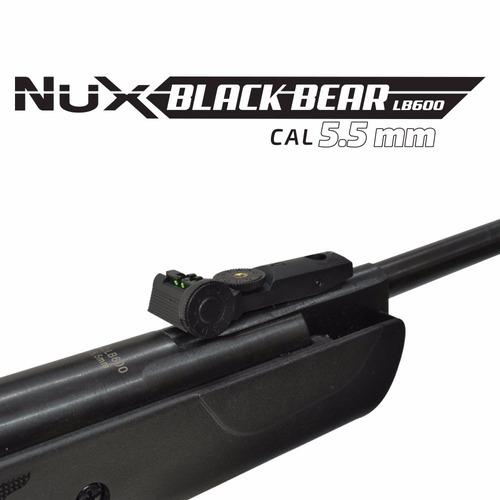 rifle aire comprimido lb600 550fp +mira+balines+blanco+envio