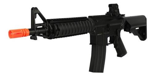 rifle airsoft aeg elétrico m4 + mira holográfica + capa
