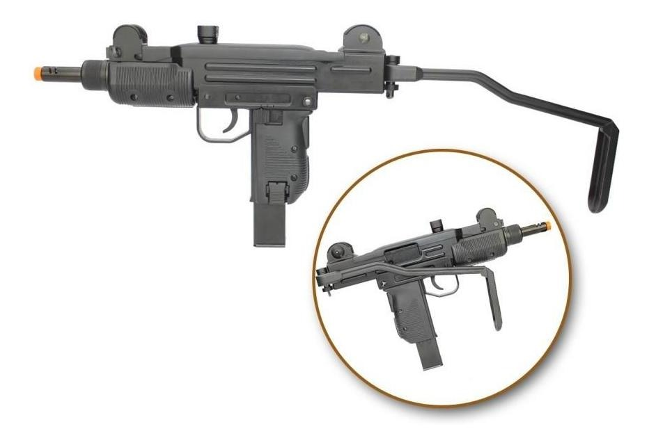 Rifle Airsoft Co2 Sub-metra Mini Uzi Full Metal Blowback 6 0