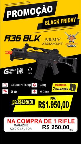 rifle airsoft g36 r36 army armament gbb + magazine extra