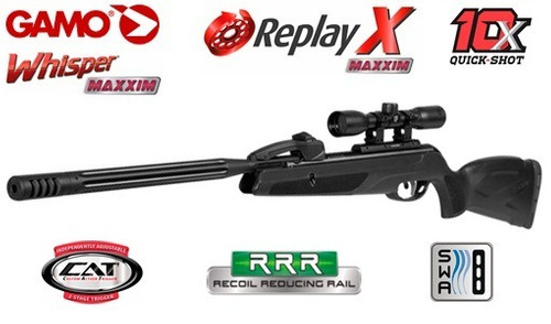 rifle gamo replay 10 max igt + funda + mira hiking outdoor