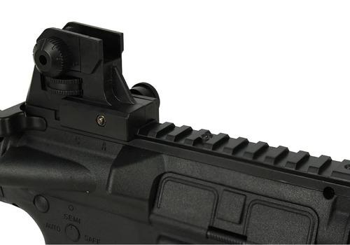 rifle m4 ris cqb rossi airsoft spring vigor black 6mm 180fps