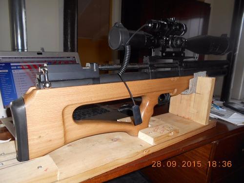 rifle pcp spa p 12 5,5 mm con mira telescópica único precio