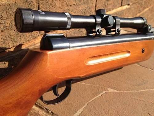rifle poston 5,5 (b1-4)  + mira telescopica 4x20 + postones