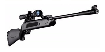 rifle poston lb600  5,5 + mira telescópica + 250 postones