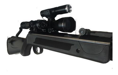 rifle postones + mira 6x40 + linterna rojo + laser tactico