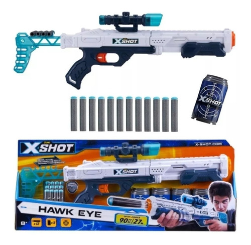 rifle x shot pistola recargable hawk eye 6 latas lanza 17 mt