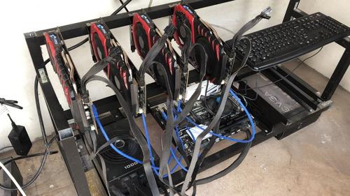 rig mineria x7 rx 580/rx 570/bitcoin/ethereum/risers/