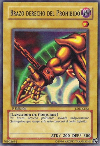 right arm of the forbidden one - lob-122 - ultra rare