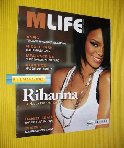 rihanna revista m life de leon gto 2007 rarisima