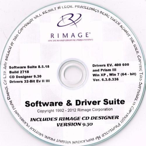 rimage everest & prism software + driver suite + outros
