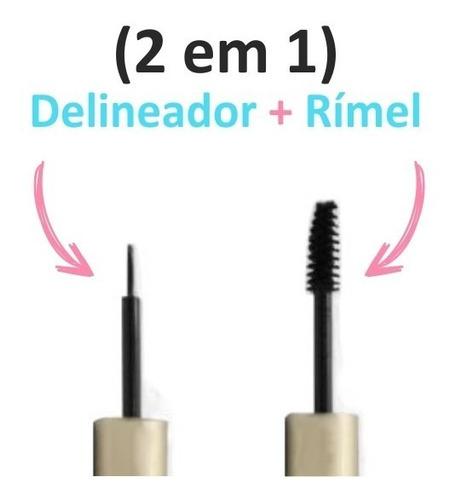 rímel e delineador - duo vivai - 2 em 1