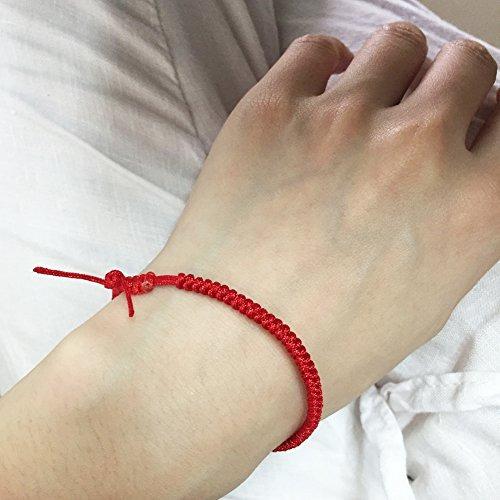 rimobul handmade kabbalah lucky red string bracelet (8)