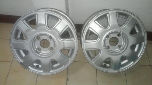 rines  14 aveo de aluminio originales
