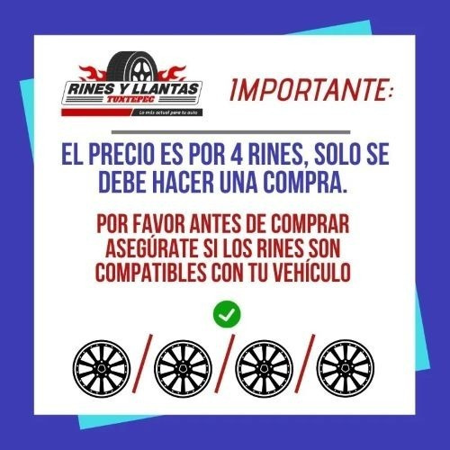 rines 17 5/108 deportivo ford focus fusion peugeot (4 rines)