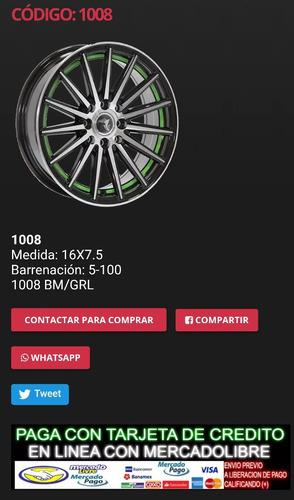 rines aguja deportivos16x7.5  5/100 envio gratis