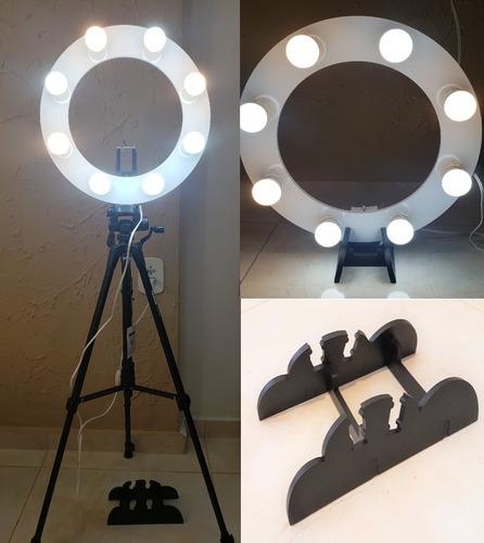 ring light 08 lampada led 2em1 + tripé  + kit selfie