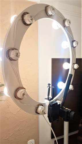 ring light 10 lampadas led 2em1 + tripé + kit selfie