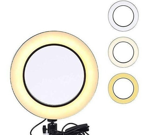 ring light 10 polegadas+ tripé maquiagem led selfie 26cm