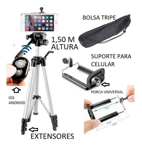 ring light 12 lampadas mod.caixa + tripé  + kit selfie