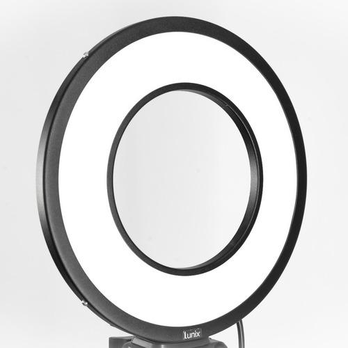 ring light 4500k (neutro) 25w lunix + tripé + sup. celular