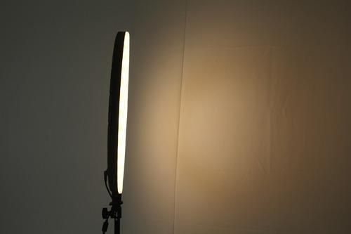 ring light 46cms iluminador led bicolor 18´ + tripé 2 metros