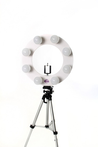 ring light br 8 bocais + tripé 1,30m + sup+ brinde exclusivo