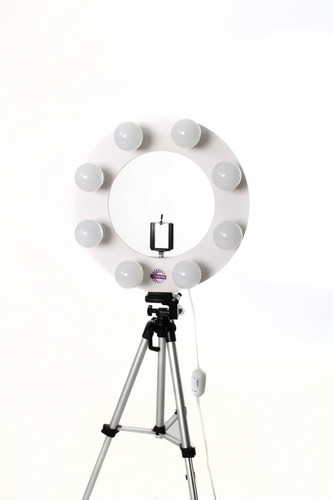 ring light br + 8 led + tripe 1,80m + sup + brinde exclusivo
