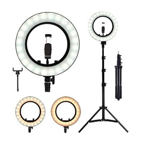 Ring Light Iluminador Led Celular 26 Cm Tripé Live Foto Pro